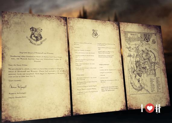 Personalized Hogwarts Acceptance Letter I Love Hogwarts – Hogwarts Acceptance Letter